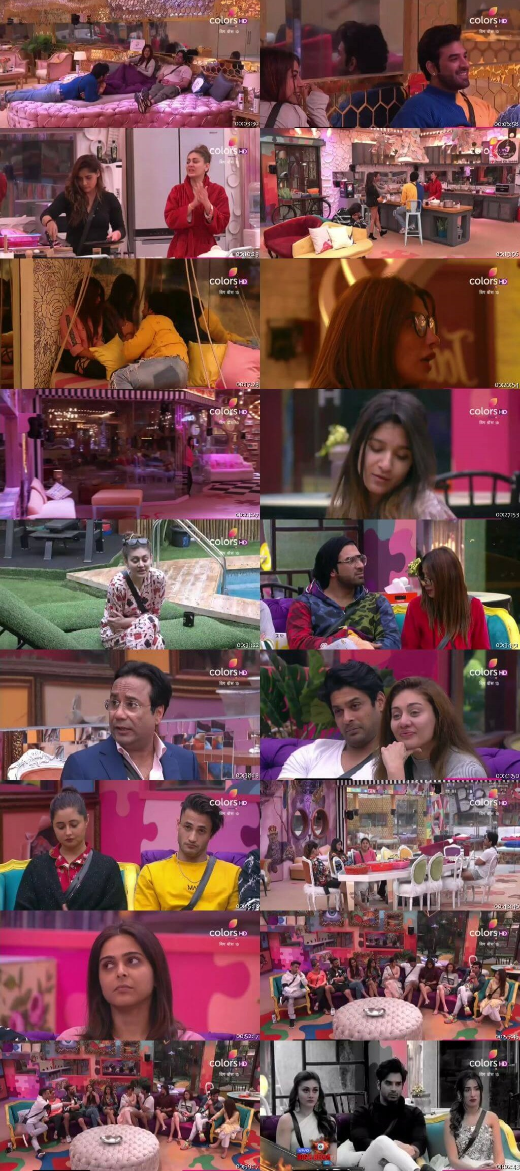 Screenshots Of Hindi Show Bigg Boss 13 3rd January 2020 Episode 95 300MB 480P HD