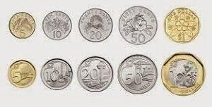 mata uang dolar Singapura koin