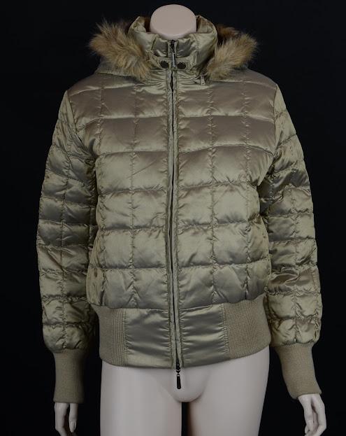 manteau blouson doudoune s t36 femme duvet d 39 oie bronze. Black Bedroom Furniture Sets. Home Design Ideas