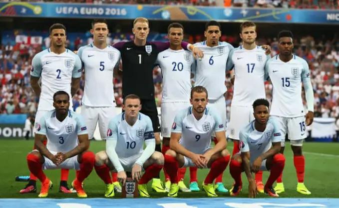 Timnas Inggris menjadi timnas sepakbola termahal kelima