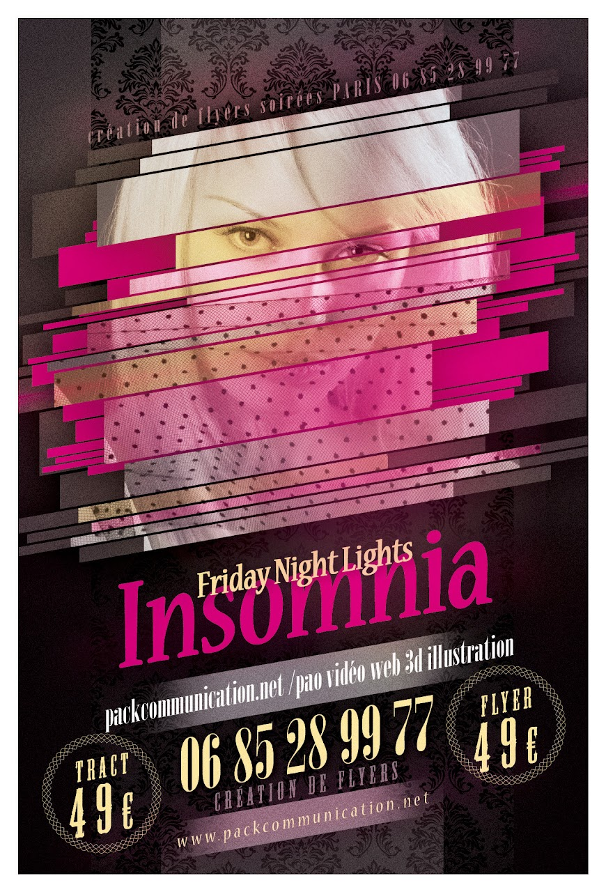 création flyers soirées thème Friday Night Lights Insomnia