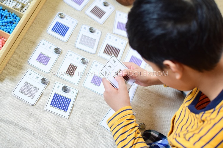 Montessori Bead Array Counting Cards