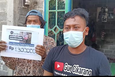 Bantuan Untuk Kang Emon Dari Netizen Gue Cikarang & Sepeda Baru Dari Bang Bule Kades Ciantra Kec.Cikarang Selatan