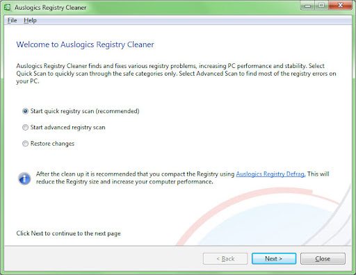 Auslogics Registry Cleaner 2.2.0.0