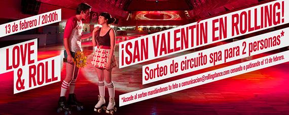 San Valentín Rolling, sábado 13 de febrero