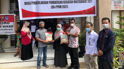 Pemko Payakumbuh Bersama Bulog dan PT. POS Salurkan Bantuan Beras-PPKM