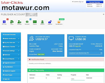 Star click - أفضل مواقع لربح المال من الانترنت 2022