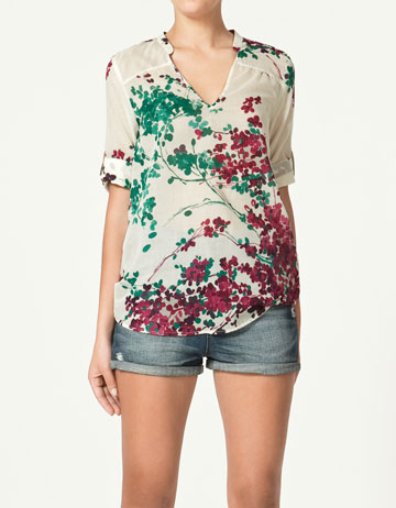 Zara Flower Print Blouse