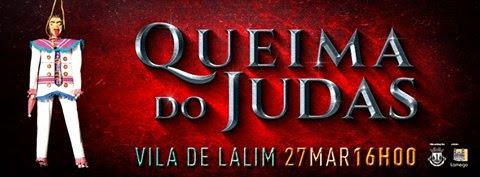 Auto de fé popular queima o Judas em Lalim - 27 de março de 2016