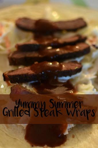 Yummy Summer Grilled Steak Wraps