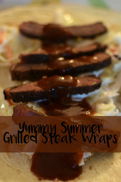 Yummy Summer Grilled Steak Wraps