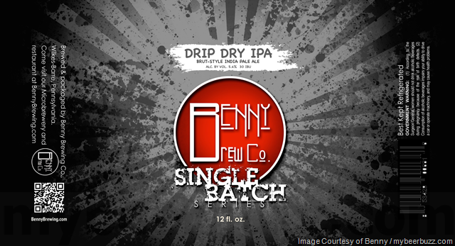 Benny Brewing Single Batch Series:  Drip Dry IPA