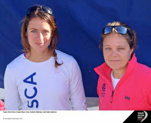 Sally Barkow sailing Volvo Ocean Race on SCA Team