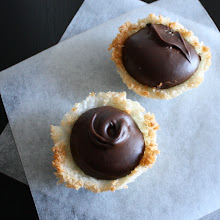 Photo: coconut cream and chocolate crème pâtissière tartlets  An echo of the journey before.  #coconut    #chocolate   #tartlets   #baking   #glutenfree