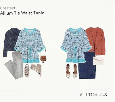 Crescent Allium Tie Waist Tunic from my May 2016 Stitch Fix box