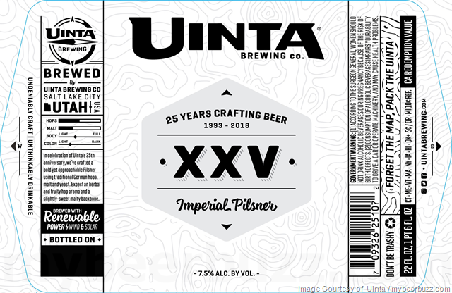 Uinta Adding XXV 25th Anniversary Imperial Pilsner