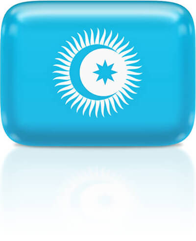 Turkic Council flag clipart rectangular