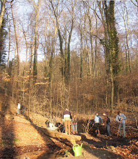 Fotos: NABU/Westphal - Die Hermelingruppe am Salamanderteich