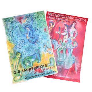 Marc Chagall Metropolitan Opera Mourlot Lithograph Pair