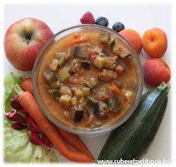 aliments fruits légumes crus cuits pour bébé