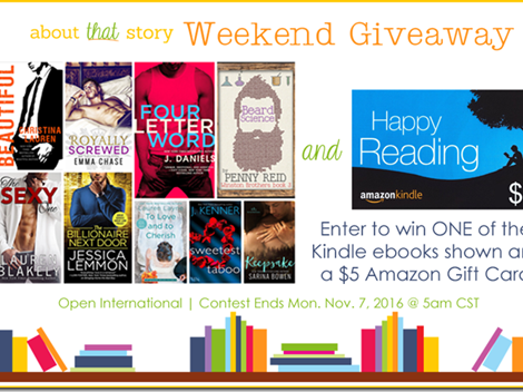 Weekend Giveaway: Kindle Ebook and a $5 Amazon Gift Card