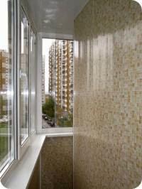 Декоративная отделка балкона