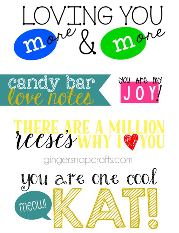 candy bar love notes at GingerSnapCrafts.com