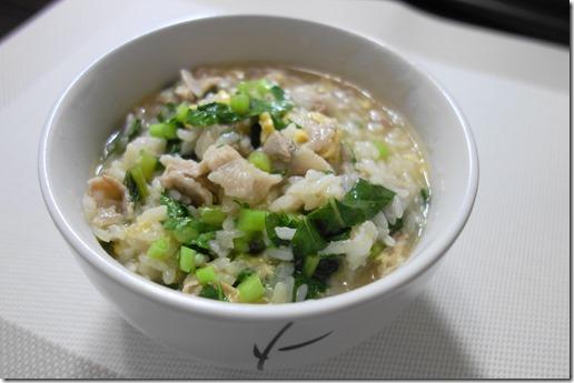 豚肉と大根の葉の雑炊