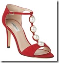 LK Bennett red embellished sandal
