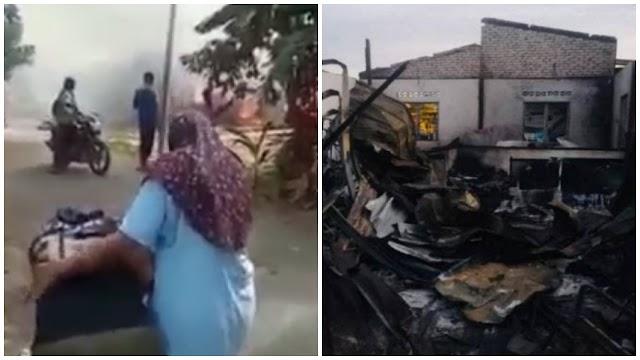 VIDEO - Minta duit tak bagi, penganggur tergamak bakar rumah saudaranya sendiri