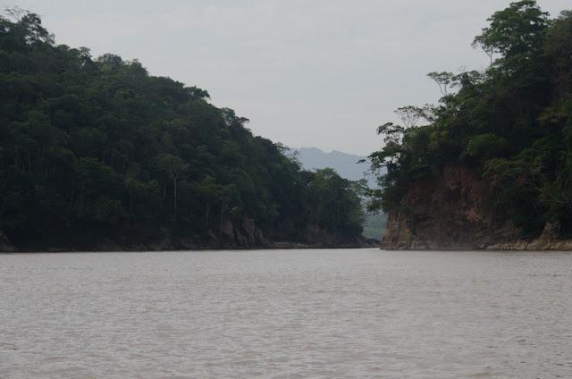 Le Rio Beni en aval de l'entrée dans la Reserva de Biosfera de Pilón Lajas (Beni, Bolivie), 27 octobre 2012. Photo : C. Basset