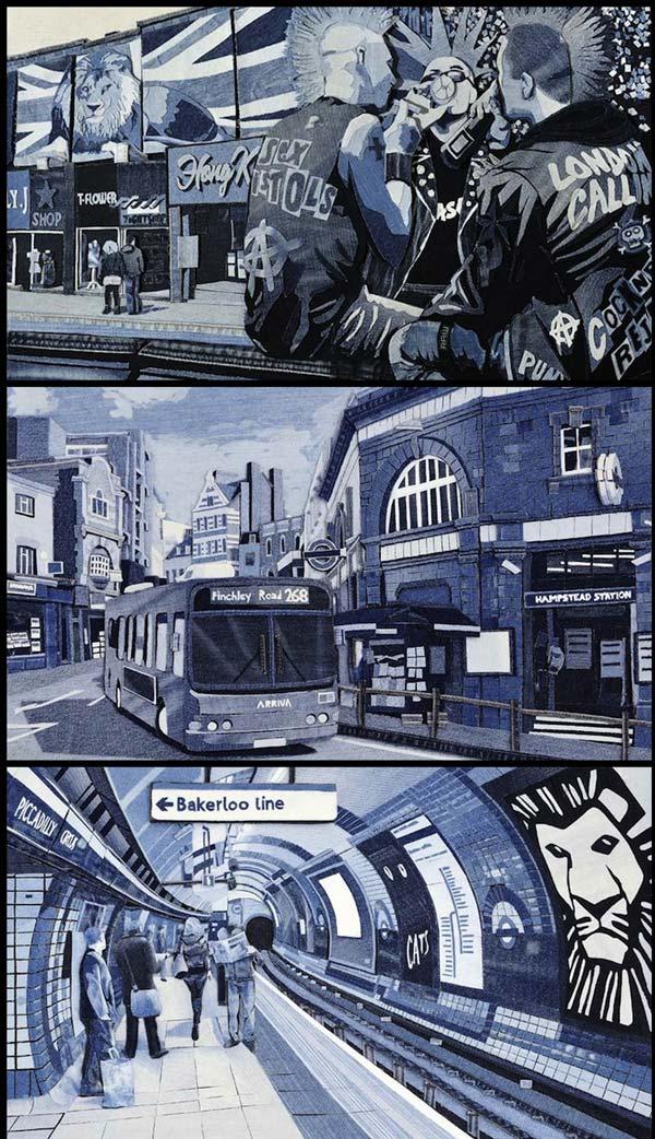 Serius Kreatif - Lukisan Dari Kain Denim (10 Gambar)