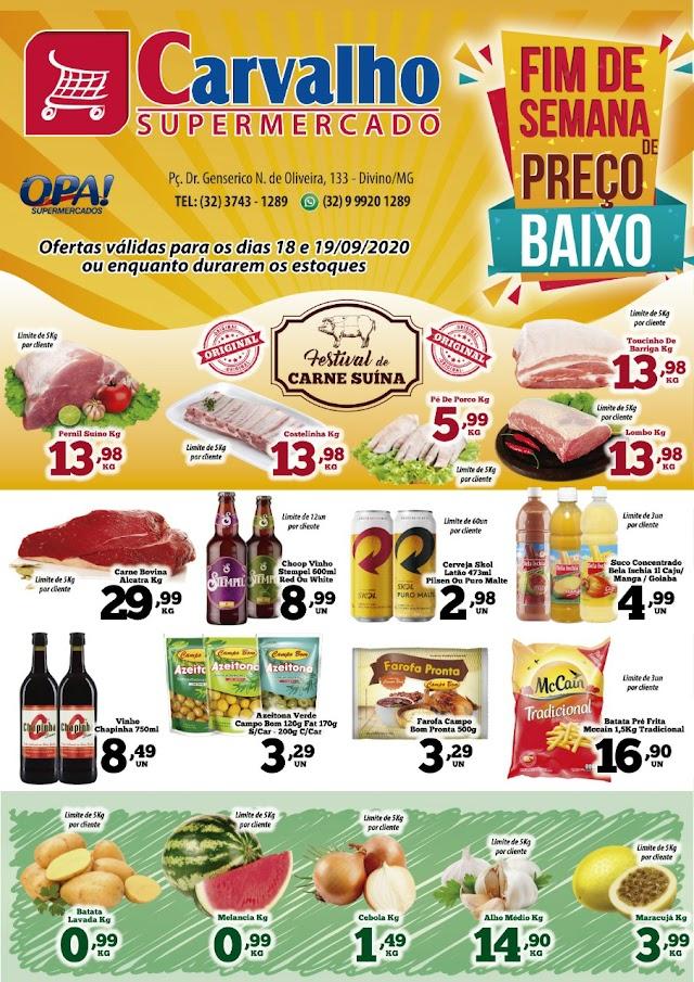 Ofertaços Carvalho Supermercado para este fim de semana