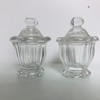 Baccarat Harcourt Mustard Jar Pair