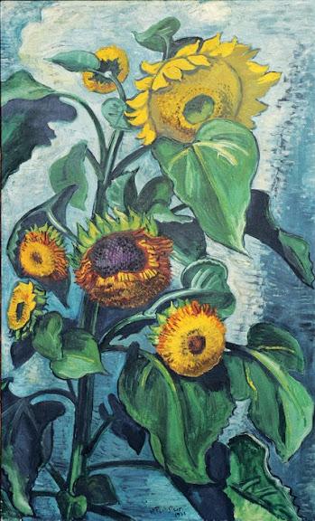 Max Pechstein - Sonnenblumen