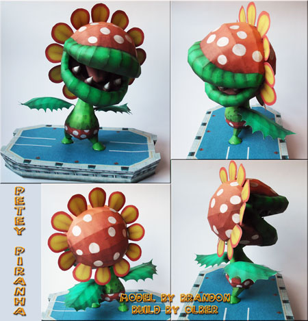 SSBB Petey Piranha Papercraft