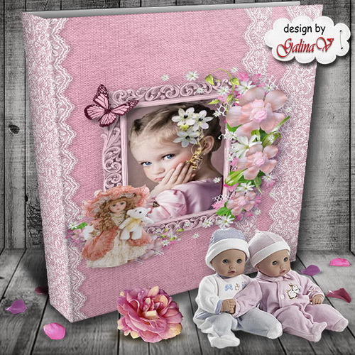 Photobook for Little Girls - My Favourite Dolls