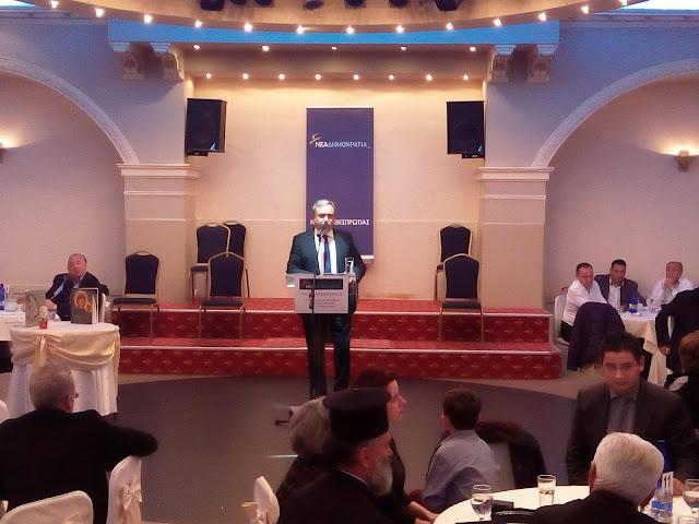 Η ομιλία του προέδρου της ΝΟΔΕ Θεσπρωτίας Άλκη Λάμπρου στην κοπή της πίτας