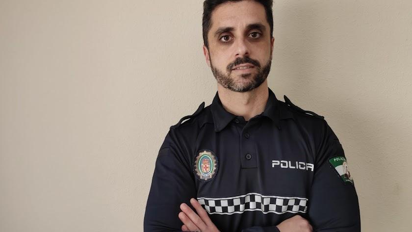 Israel Ruiz López, oficial de la Policía Local de Almería.