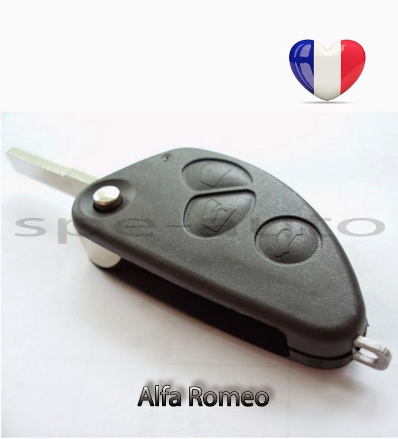plip coque clé ALFA ROMEO 2 boutons 159 Brera 147 156 166 GT JTD TS GTA Mito