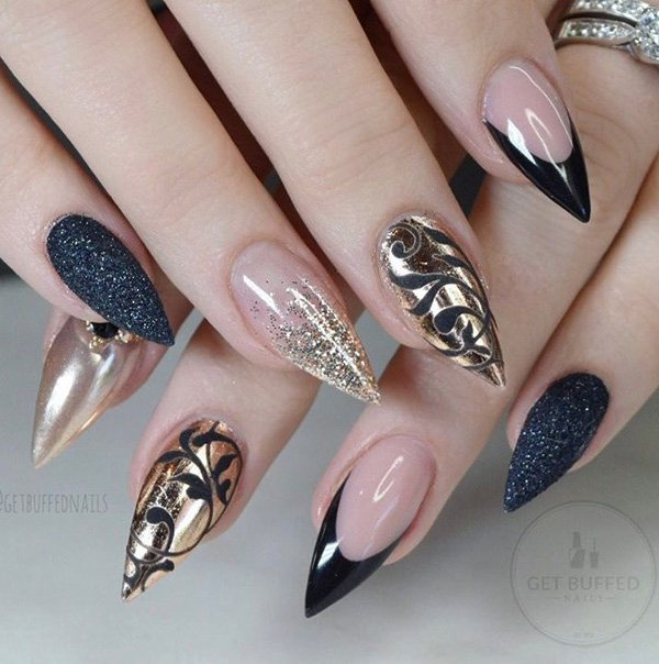 Top Glamour Chrome Nails Art Ideas Trends 2018