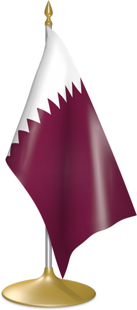 Qatari table flags - desk flags