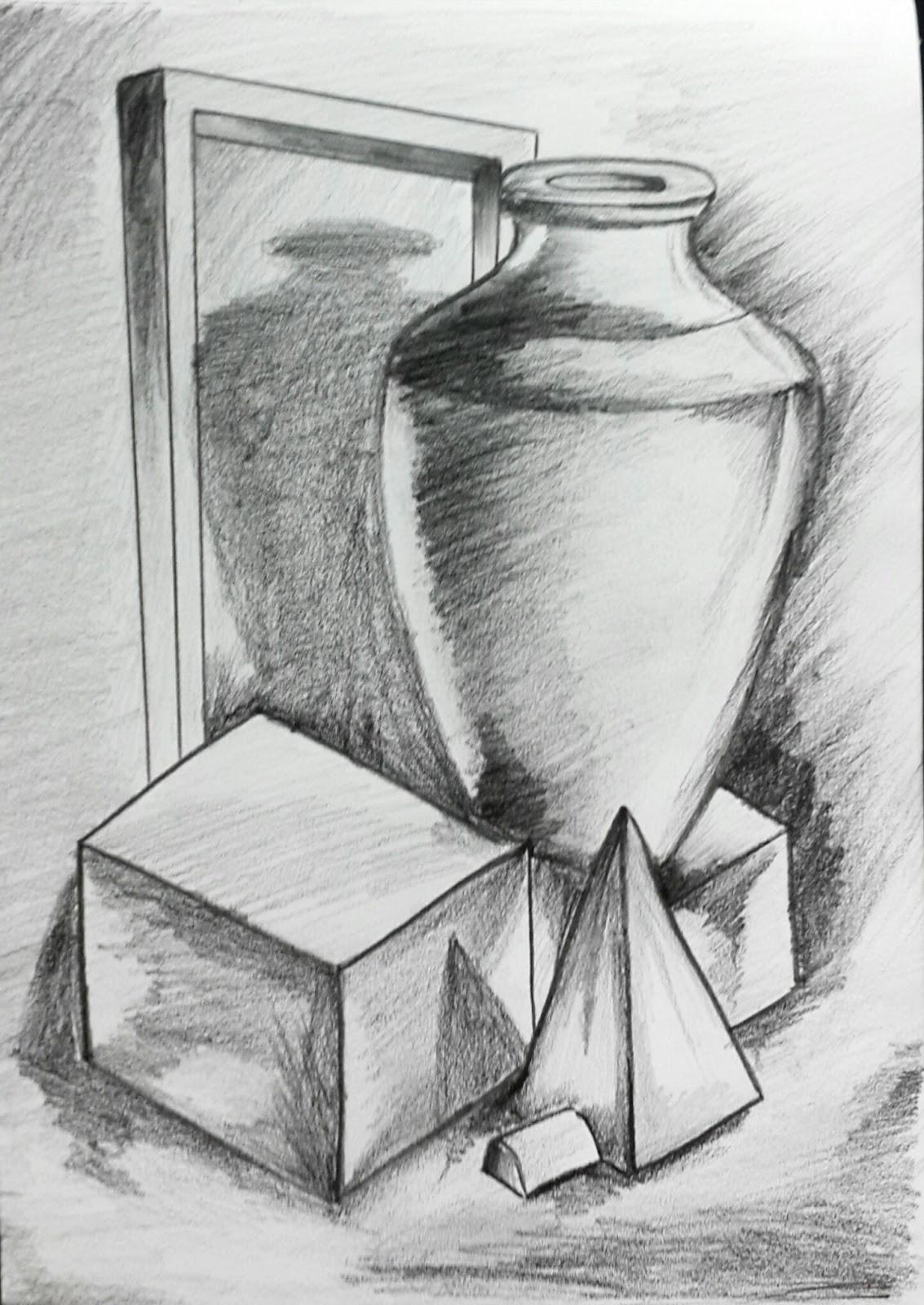 Thanush.Kr: Object; Drawing 3D pencil shading