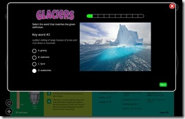 Glacier Key Words Quiz
