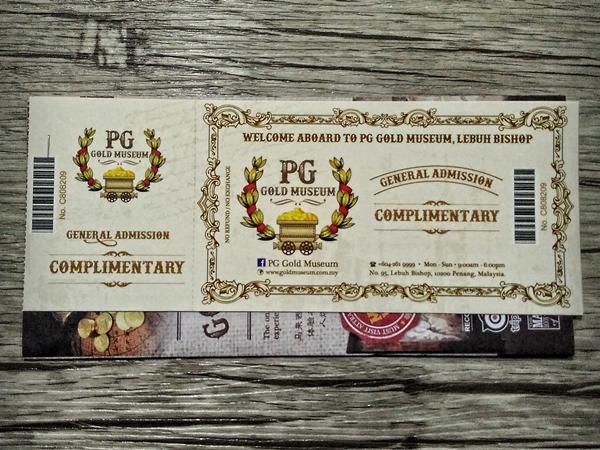 tiket percuma PG Gold Museum