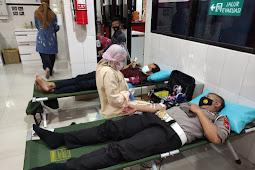 Sambut Hari Bhayangkara Ke-75, Polresta Sidoarjo Gelar Baksos Donor Darah