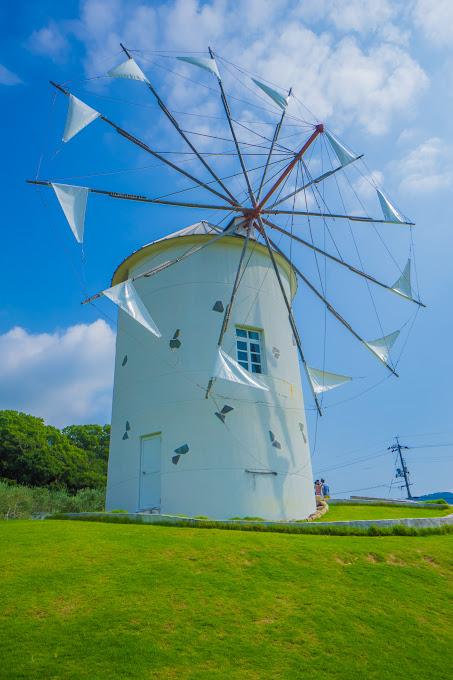 小豆島オリーブ公園 ギリシャ風車 3