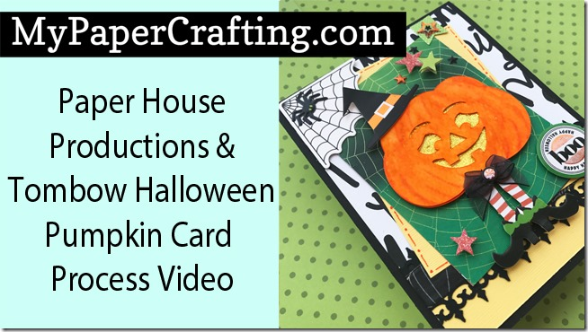 paper house tombow pumpkin card yt650