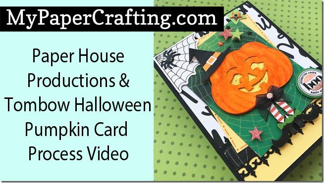paper house tombow pumpkin card yt650