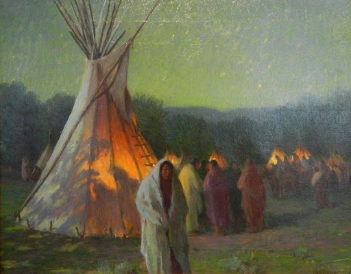 """Moonlight and Firelight, Crow Reservation, MT"""